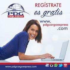Al ser cliente registrado, te permitirá verificar el estatus de tu mercancía, facturas y todo lo referente a la carga enviada con nosotros. www.pdgcargoexpress.com