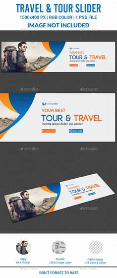 Travel Slider Template PSD. Download here…