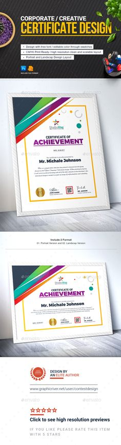 Certificate Certificate design, Certificate design template and - creative certificate designs