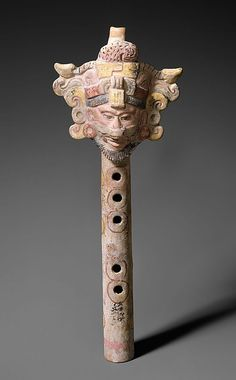 Fipple Flute Period: Pre-Columbian Date: ca. 600–900 Geography: Mexico Medium: Pottery, polychrome