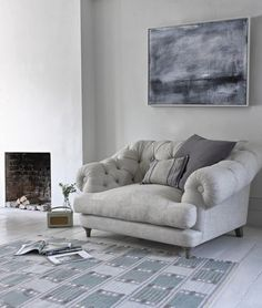 Fancy a classy reading corner? Love this mini couch!!