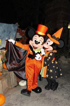 Mickey and Minnie Mouse at Disney Character Central Disney World Halloween, Mickey Halloween Party, Mickey Mouse Costume, Disneyland Halloween, Mickey Minnie Mouse, Scary Halloween, Halloween Birthday, Halloween Ideas, Happy Halloween