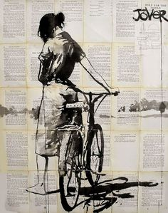 cadenced:  Ink painting by Australian artistLoui Jover and found on Saatchi Online.