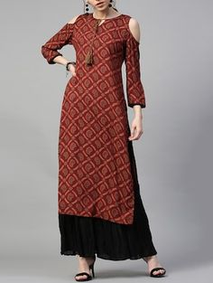 Kurti Patterns, Dress Patterns, Ethnic Fashion, Indian Fashion, Cold Shoulder Kurti, Ethnic Trends, A Line Kurti, Kurti Neck Designs, Frock Design