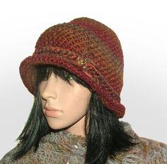 rustic cloche #crochet beanie be Renate Kirkpatrick