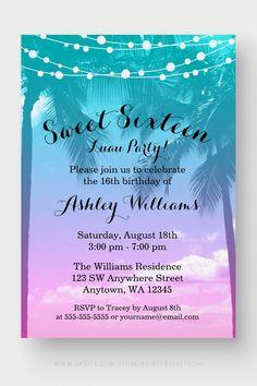 42 sweet 16 invitations ideas in 2021