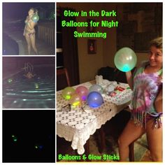 Glow in the Dark Balloons:) Made for night swimming! 13th Birthday Party Ideas For Girls, 13th Birthday Parties, 12th Birthday, Godzilla Birthday, Night Swimming, Activities To Do, Family Kids, Girls Night Out, Summer Time