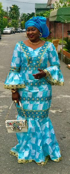 Pretty Perfect Plus Size Aso-Ebi Styles - Reny styles African Maxi Dresses, Latest African Fashion Dresses, African Dresses For Women, African Print Fashion, African Attire, African Wear, African Women, Nigerian Fashion, Ankara Gown Styles