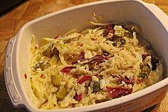 Leckerer kalorienarmer Sauerkraut - Salat