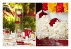 Red, red, red Outdoor Ceremony Weddings and Photography #weddings #losangelesrivercenter #luzpencyla