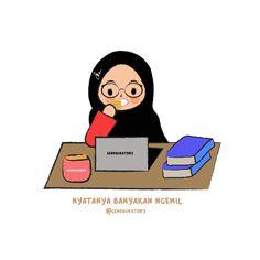 Cute Cartoon Quotes, Cute Quotes, Hijab Drawing, Manga Drawing, Chibi Wallpaper, Anime Stories, Islamic Cartoon, Anime Muslim, Hijab Cartoon