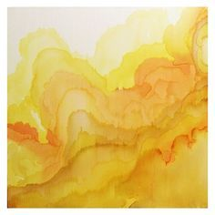 Tovera - Design Crush Beautiful yellow watercolor waves by Tobias Tovera. There's a quality to watercolor that really can't be replicated.Beautiful yellow watercolor waves by Tobias Tovera. There's a quality to watercolor that really can't be replicated. Tobias, Research Abstract, Aesthetic Colors, Aesthetic Yellow, Shades Of Yellow, Mellow Yellow, Color Yellow, Mustard Yellow, Happy Colors