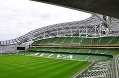 Stand in the Aviva Stadium, Dublin, Ireland