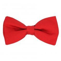 Noeud papillon rouge anglais pré-noué - Tilbury #noeudpapillon #rouge #mariage