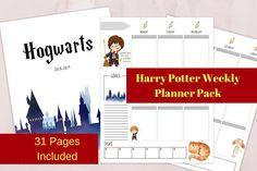 Harry Potter Inspired Planner Pack, Harry Potter Planner, Harry Potter Printable, Letter Size, Planner,Financial Planner, Meal Planner