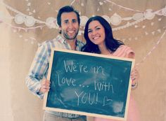 @Julia Mattson DIY Wedding Photo Booth Ohh or something like this for a photo booth... where everyone can write a message to you on the chalk board 7 take a picture with it.