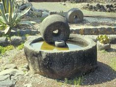 Israel: Capernaum: Olive Press ---(perhaps not the best board for this, but it is really cool to know how this was done!)
