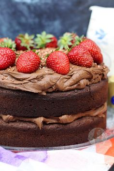 A Two Layer Gluten Free and Dairy Free Chocolate Cake for everyone to enjoy! Fudgey, Chocolatey, and DELICIOUS. So recently I decided to try a. Gluten Free Cakes, Gluten Free Baking, Gluten Free Desserts, Dairy Free Recipes, Just Desserts, Baking Recipes, Real Food Recipes, Cake Recipes, Paleo Baking