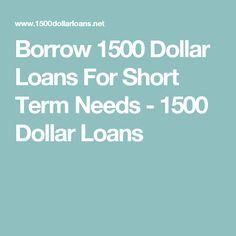 1500 dollar loans fast