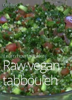 Raw vegan tabbouleh recipe
