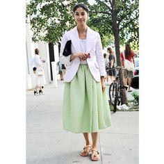 Caroline Issa's flat sandal style, plus find more summer style inspiration at Redonline.co.uk