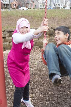 Ruqaya & ALi (swinging) 1/250  F-7.1  ISO-800