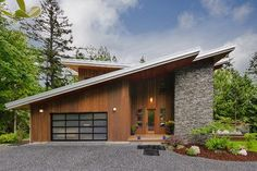 small shed roof modern house plans - Google Search