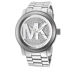Michael Kor Runway MK Silver Dial Women's Watch MK5544 >>> Remarkable product available now.