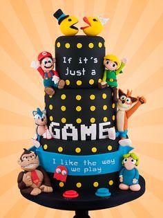Crazy Cakes, Crazy Wedding Cakes, Gamer Wedding Cake, Funny Wedding Cakes, Geek Wedding, Dream Wedding, Mario Bros Kuchen, Beautiful Cakes, Amazing Cakes