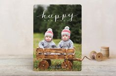Simply Happy Holidays New Year Photo Cards by Froo... | Minted