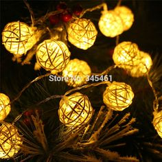 Find More Lighting Strings Information about 2015 New Wedding Christmas Decoration 3M 20pcs Rattan Ball Yellow Light LED String Christmas Lights Garlands Party Light Strings,High Quality light technician,China string lights clear Suppliers, Cheap string lights solar from Igo Lighting Nine Co., LTD on Aliexpress.com