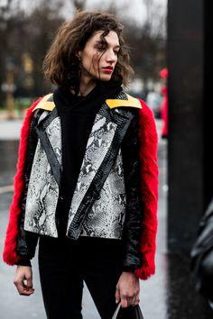 Street style Fashion Week haute couture printemps ete 2018 Paris 77
