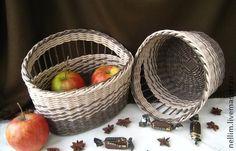 """Корзины, коробы ручной работы. Ярмарка Мастеров - ручная работа Набор плетеный """"Шоколадная карамель"""". Handmade."""