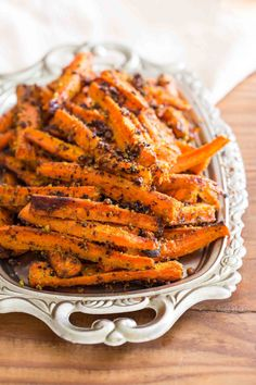 Pesto Roasted Carrot Fries by overtimecook #Carrots #Pesto