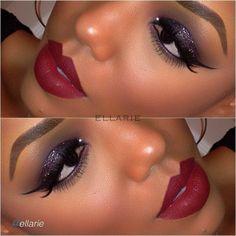 Beautiful makeup look by  using Motives cosmetics!