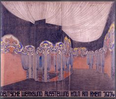 J.L.M. Lauweriks. Interior for Deutscher Werkbund exhibition, Cologne, 1914.