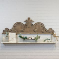 Add Victorian elegance to any room with our wood scroll wall decor. Reminiscent of the old craftsmanship that adorned the most opulent homes in the century our large wooden wall decor will command any space. Wooden Wall Decor, Farmhouse Wall Decor, Wooden Walls, Rustic Decor, Wall Wood, Farmhouse Ideas, Rustic Farmhouse, Rustic Wood, Modern Decor