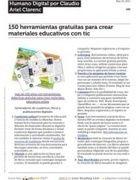 PDF de descarga:150 Herramientas gratuitas para crear materiales educativos y didacticos con TIC
