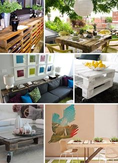 Pallet furniture/ Shelves for behind the couch