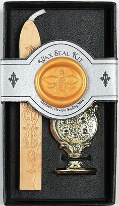 Bee wax seal...  Haha how cool would it be to get a welcome card sealed like this?