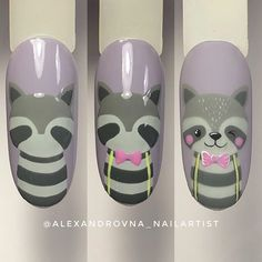 "Get fantastic tips on ""nail paint ideas easy"". They are accessible for you on our website. Cartoon Nail Designs, Animal Nail Designs, Easter Nail Designs, Animal Nail Art, Diy Nail Designs, Shellac Nail Art, Best Acrylic Nails, Nail Manicure, Diy Nails"