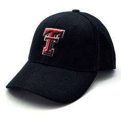 fe3cb2537b7 Texas Tech Black Premium FlexFit Baseball Hat by Top of the World.  16.94.  This