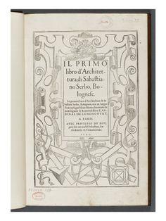 Premier livre d'architecture de SERLIO - Musée national de la Renaissance (Ecouen)