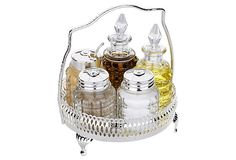 5-Pc Round Cruet (Corbell by Queen Anne) on OneKingsLane.com - handy for carrying things out to screen porch