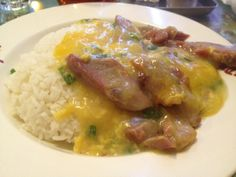 rice with corn sauce and meat :D