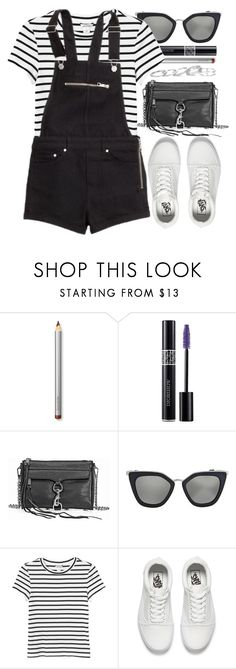 """Black & White"" by monmondefou ❤ liked on Polyvore featuring Laura Mercier, Christian Dior, Rebecca Minkoff, Prada, Monki, H&M, Vans, Kendra Scott, white and black"