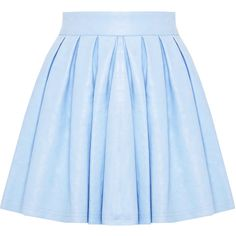 Alice + Olivia Box Pleat Leather Skirt ($297) ❤ liked on Polyvore featuring skirts, bottoms, saias, blue, leather skirt, blue slip, box pleat skirt, slip skirt and blue skirt