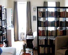 Bookshelf room dividers for optional open concept