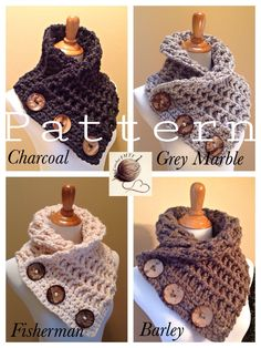 """Ladies Versitile Crochet Cowl/Scarf """"The Cowtown Cowl"""" PATTERN ONLY by CrochetFMTY on Etsy"""