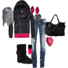 <3 love black/grey/pink!!